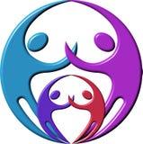 Couple logo. Photoshop design a couple logo with isolated background Stock Photos