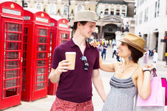 Couple in London Stock Image
