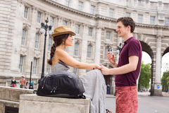 Couple in London Royalty Free Stock Image