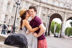 Couple in London Stock Photo