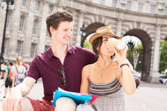 Couple in London Royalty Free Stock Photo