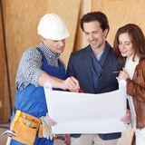 Couple Look At Home Plans Stock Images