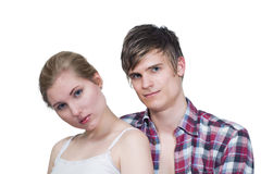 Couple looking Royalty Free Stock Photos
