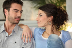 Free Couple Looking At Each Other Royalty Free Stock Photography - 22365507