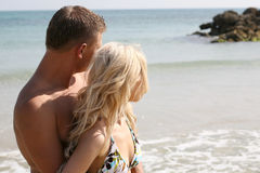 Couple looking away Royalty Free Stock Images
