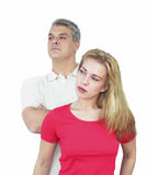 Couple looking away. Young couple Royalty Free Stock Photos