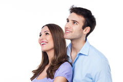 Couple looking away royalty free stock photos