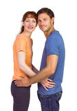 Couple looking at the camera Stock Photography