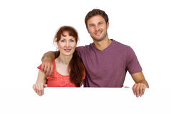 Couple looking at the camera Royalty Free Stock Photo