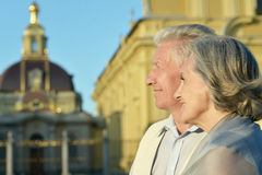 Couple looking at the church Royalty Free Stock Photography