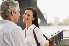 Couple Looking At Each Other Stock Photography