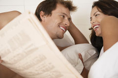 Couple Looking At Each Other In Bed Royalty Free Stock Photography