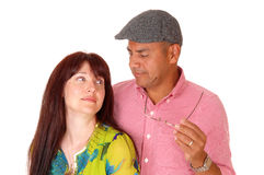 Couple looking at each other. Royalty Free Stock Photos