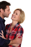Couple looking each other in the eyes Royalty Free Stock Images