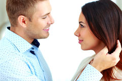 Couple looking at each other Royalty Free Stock Photo