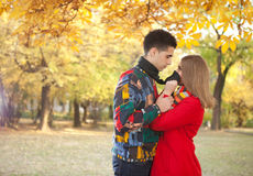 Couple looking at each other and having fun Royalty Free Stock Photo