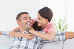 Couple looking at each other in house Royalty Free Stock Images