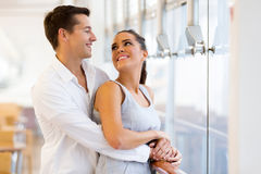 Couple looking each other. Loving young couple looking each other Stock Photography