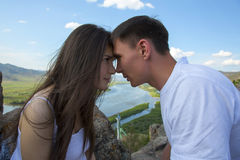 Couple looking into each other's eyes Stock Photography