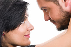 Couple looking into each others eyes Royalty Free Stock Image