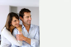 Couple looking at future Royalty Free Stock Images