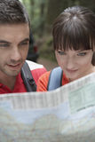 Couple Looking At Map Royalty Free Stock Image