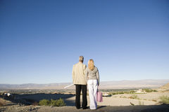Couple Looking At Plot For New Home Royalty Free Stock Photography