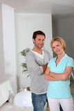 Couple looking satisfied Royalty Free Stock Photography