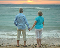Couple looking at sea Royalty Free Stock Image