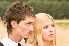 Couple looking at something Royalty Free Stock Photography