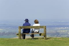 Couple looking at view Royalty Free Stock Photos