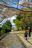 A Couple at the Keage Incline Royalty Free Stock Images