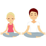 Couple Lotus Pose Stock Image