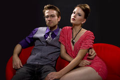 Couple at a lounge Stock Photo