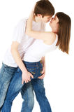 Couple in love. Young teenage couple in love Stock Images