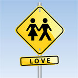 Couple In Love. Vector sign of a couple in love Royalty Free Stock Photo