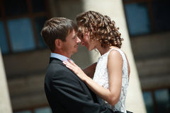 Couple in love. Newlywed couple happy in love royalty free stock photo