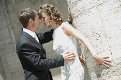 Couple in love. Newlywed couple happy in love stock image
