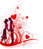 Couple in love. With space for text stock illustration