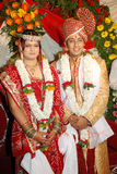 Couple Love. An indian hindu couple in their traditional attire at the time of wedding Stock Photo
