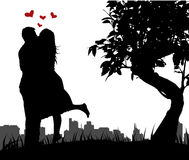 Couple love vector illustration