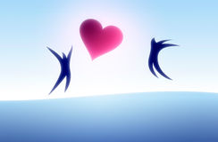 Couple in love. Illustration. Blue tint Stock Image
