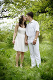 Couple in love. Full length portrate of Young couple in love Royalty Free Stock Photography