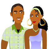 Couple in Love. Vector Illustration of a Couple in love Royalty Free Stock Images
