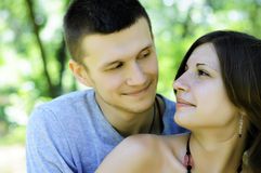 Couple in love. Photo of a beautiful couple in love Royalty Free Stock Image