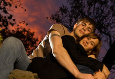 Couple in love. Picture of a young couple in love Royalty Free Stock Photos