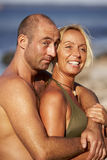 Couple in love. At the summer vacation stock photography