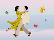 Couple in love stock illustration