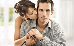 Couple in love. Young couple in love, handsome man and pretty woman stock photo