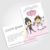 Couple in love, background, wedding invitation Stock Photos